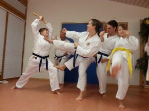 Karate Training im Kindergarten Dobel
