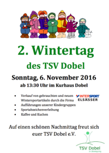 Der 2. Wintertag des TSV Dobel am 6. November 2016