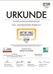 DTB Prädikat Puspunkt Gesundheit (TSV Dobel)